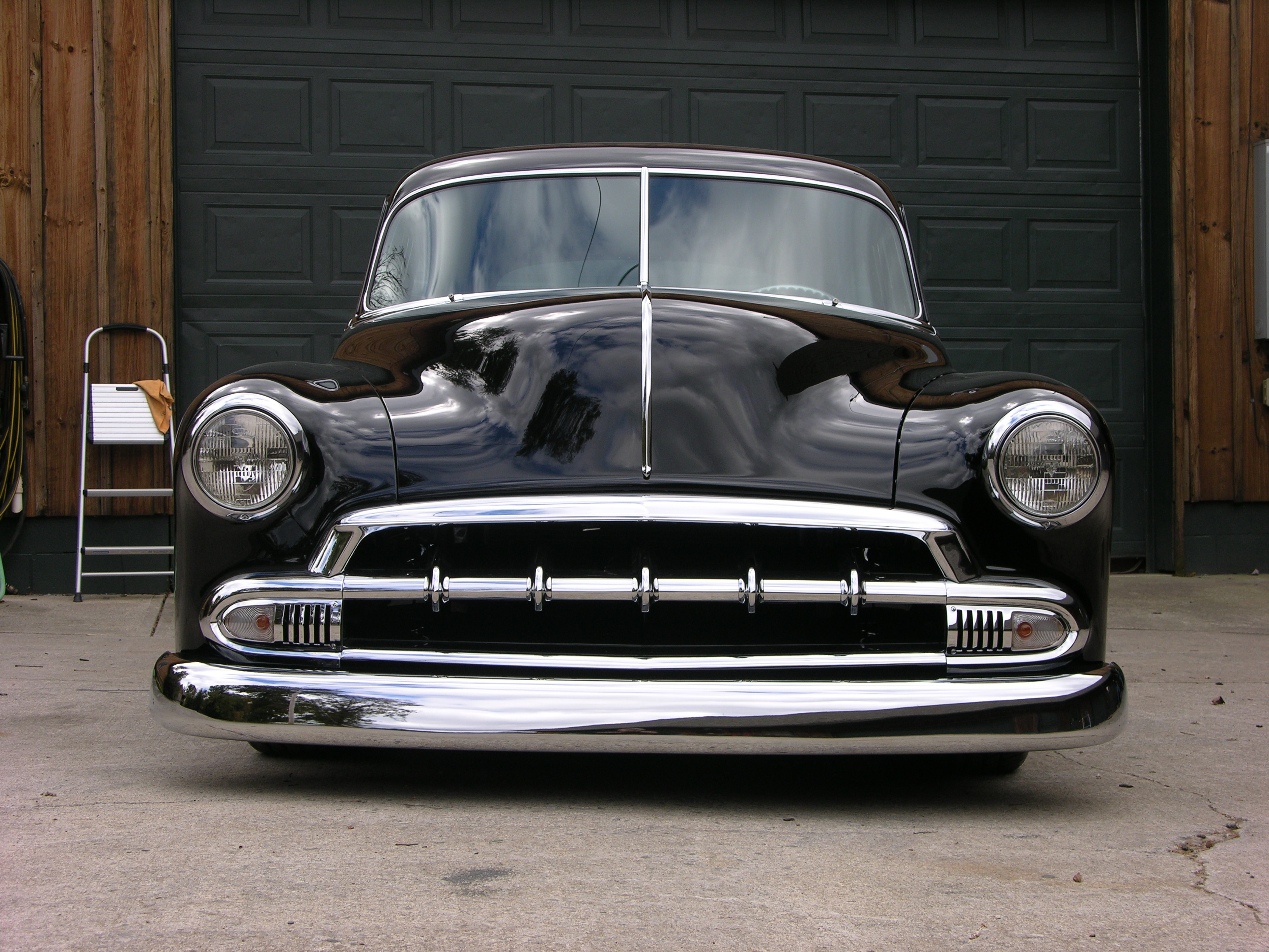 Chevrolet 1951 Hot Rod Ide Dimage De Voiture 1954 Chevy Chopped And Bagged Rat Alloways Shop
